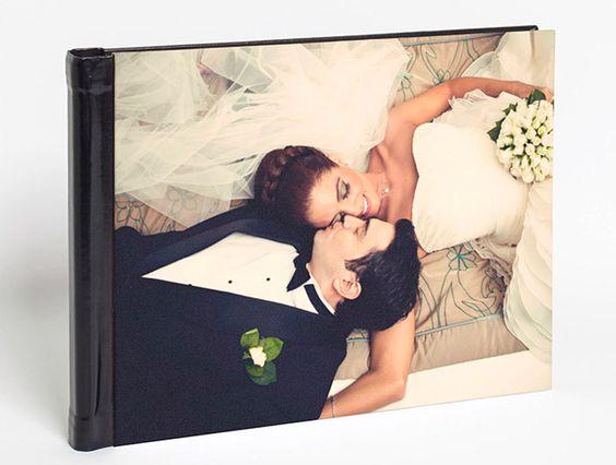 Álbum de fotos Premium con encuadernación similar a piel de Hofmann.