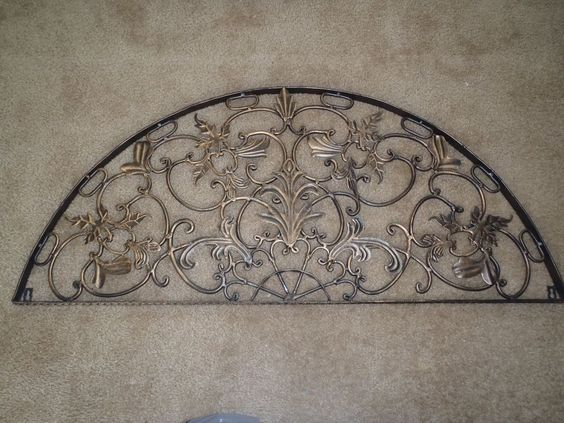 Rustic Arch Wall Decor : Half moon arch rustic architectural wall garden iron over