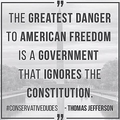 The greatest danger to American Freedom is a Government that ignores the Constitution.