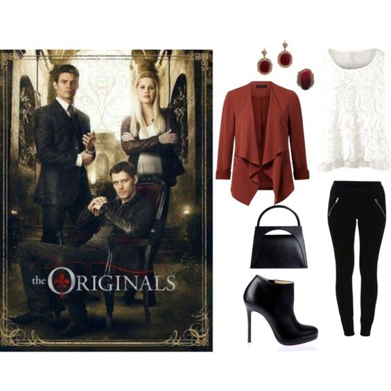 The originals-Rebekah by malirybka1989 on Polyvore featuring VILA, Christian Louboutin, J.W. Anderson and CAbi