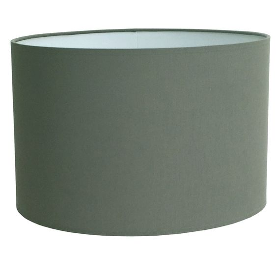 Drum Table Lampshade in Granite Cotton