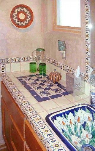 Full bath with talavera tile - Bathroom tiles talavera ...