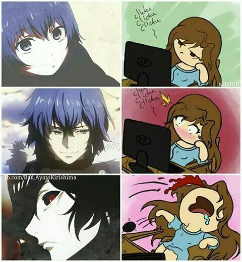 Anime Characters React Fanfiction : Ayato and most of the tokyo ghoul fangirls am i only
