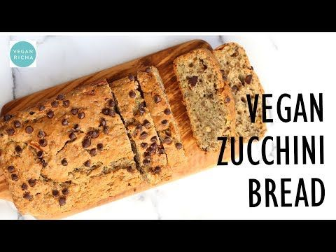 Easy Vegan Zucchini Bread 1 Bowl Hearty Zucchini Bread With Chia Seeds And Chocolate Chips Add Some Walnuts O Vegan Zucchini Bread Vegan Zucchini Vegan Richa