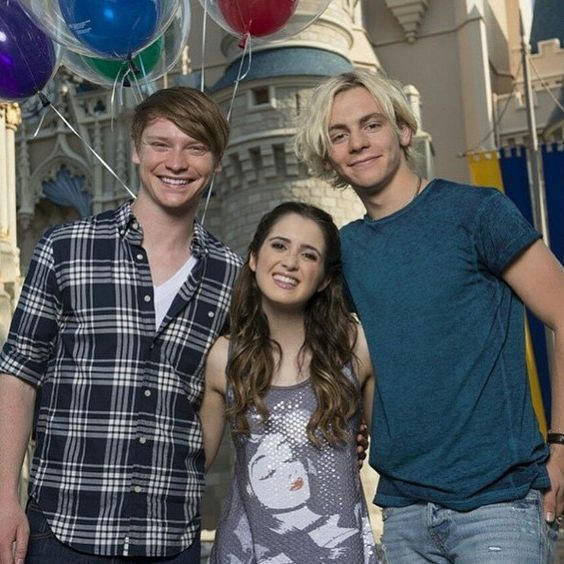 Calum Worthy Laura Marano and Ross Lynch At Disney Land For The Coolest Summer Ever