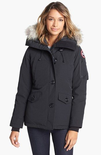 Canada Goose vest outlet discounts - Women's Canada Goose 'Montebello' Slim Fit Down Parka with Genuine ...