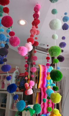 pompom garland Day 210 Christmas Countdown: