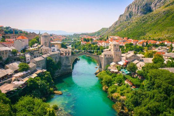 Stari Most old bridge in Mostar, Bosnia and Herzegovina