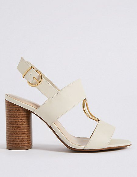 Block Heel Two Band Ring Sandals   M\u0026S