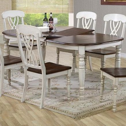 39 mirabel dining 39 two tone table sears sears canada for 2 tone dining room sets
