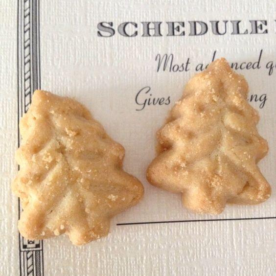 Tree shortbread cookies