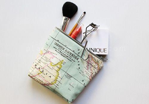 Map makeup case.