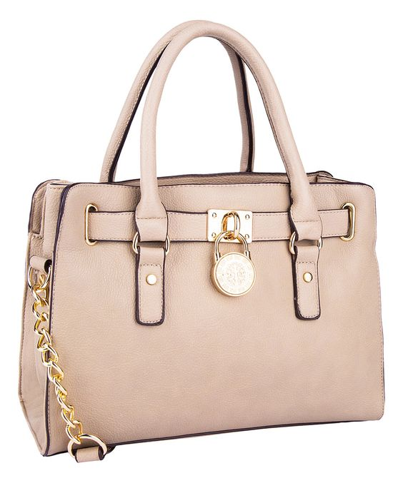 This MKF Collection Beige Plora Satchel by MKF Collection is perfect! #zulilyfinds