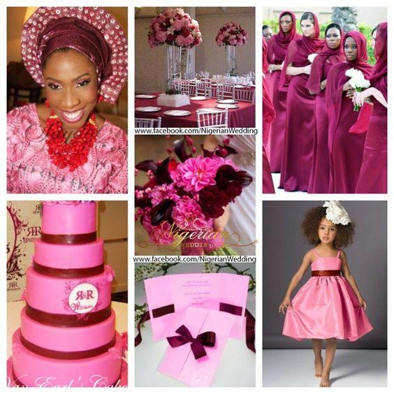 Burgundy and pink wedding colors | Wedding | Pinterest | Nigerian ...