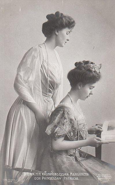 Kronprinzessin Margarete von Schweden mit ihrer SchwesterPrinzessin  Patricia Connaugh