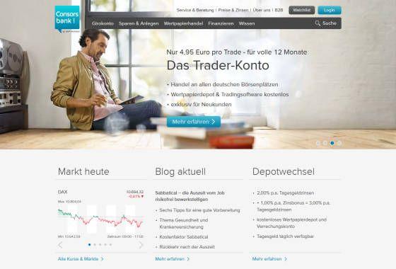 Consorsbank Website