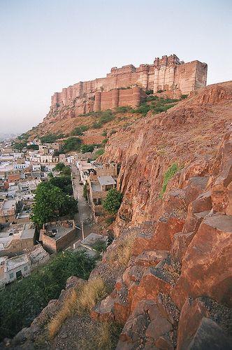 The Mehrangarh Fort at dawn, Jodhpur, Rajasthan, India