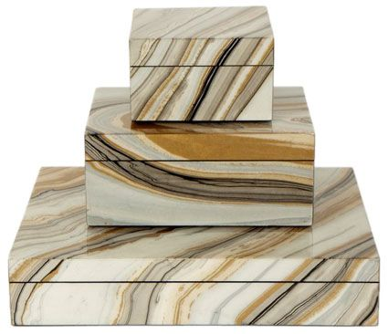 agate stacking boxes, office