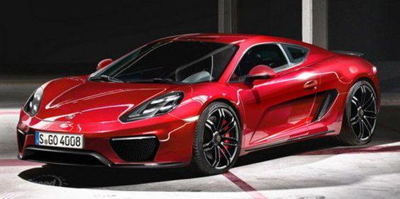 Red 2013 Porsche 960