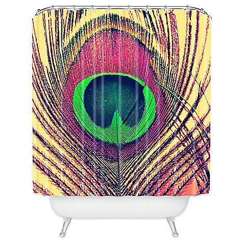 DENY Designs Shannon Clark Peacock 2 Shower Curtain