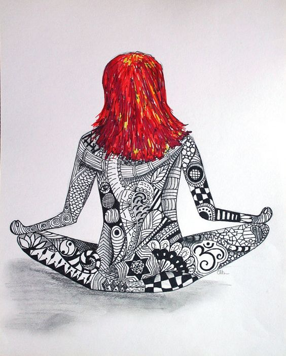 Hamsa Zentangle | Watercolor zentangle art, hand painted art, yoga girl art, yoga art ...