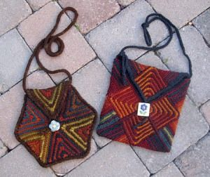 Patchwork Purse Collection #1 contains patterns for 3 different purses.