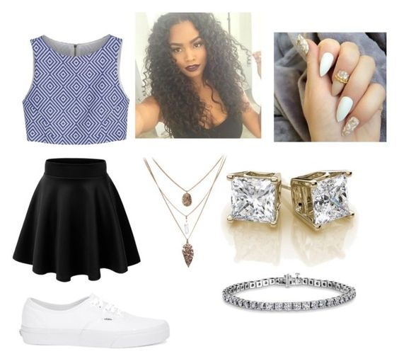 """""""Untitled #10"""" by jazzebabes on Polyvore featuring Alice + Olivia and Vans"""