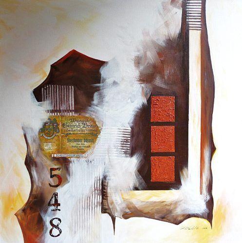 """Petra Wendelken, """"Abstrakte Momente 2"""" Mit einem Klick auf """"Als Kunstkarte versenden"""" versenden Sie kostenlos dieses Werk Ihren Freunden und Bekannten."""