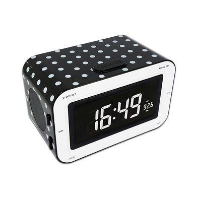 radio sveglia rr30 nera a pois bianchi da bigben interactive ulteriori informazioni qui. Black Bedroom Furniture Sets. Home Design Ideas