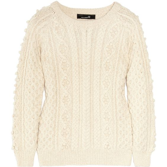 Isabel Marant Anui cable-knit alpaca-blend sweater (1.835 BRL) ❤ liked on Polyvore featuring tops, sweaters, jumper, shirts, women, isabel marant shirt, alpaca sweaters, cable sweater, cable jumper and cream sweater