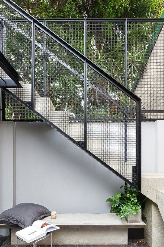 A Sydney Terrace House Has Been Transformed Into A U201cfortress Of Solitude,u201d  A Retreat From The Hustle And Bustle Of Everyday Life. | Stair | Pinterest  | The ...