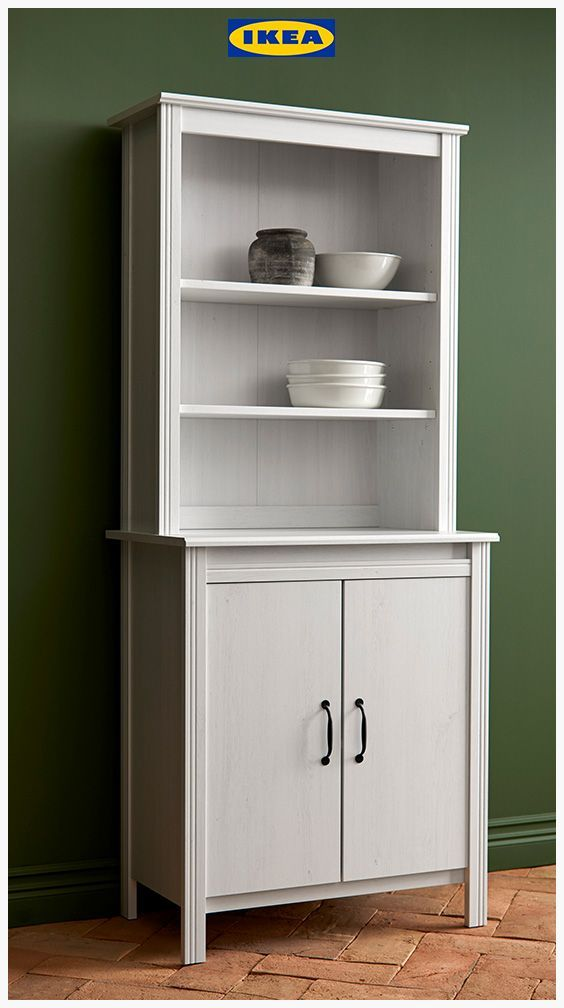 Idees Decoration Cuisine Brusali High Cabinet With Door White 80 X 190 Cm Meuble Rangement Cuisine Decoration Cuisine Agrafes De Bureau