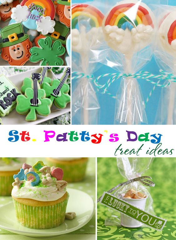 Rainbow Recipes: 14 Colorful Ideas for St. Patrick's Day; St. Patrick's Day Desserts: 17 Shamrock + Rainbow Ideas; St. Patrick's Day Home Decor: 14 Crafts and Printables; If you enjoyed these free printable treat tags for St. Patrick's Day party favors, please share this with your friends or pin it .