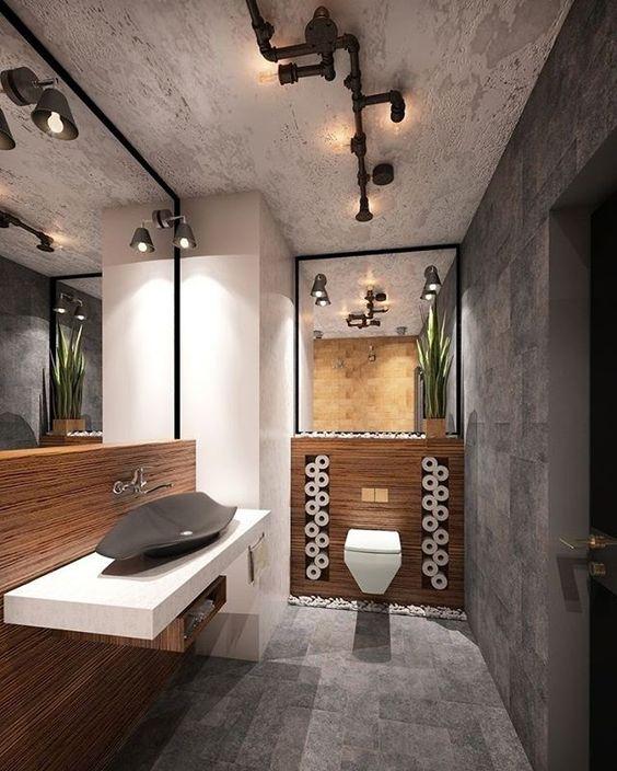 Lavabo super moderno e cheio de estilo!  #decoração #decorando #design #designdeinteriores #decorar #decore #decorei #interiores #luxo #luxuoso #sofisticado #sofisticação #estilo #estiloso #estilosa #arquitetos #designers #casa #ambientes #projeto #ideias #casanova #nossacasa #dicas #inspiração #home #casa #ambiente #lavabo #moderno