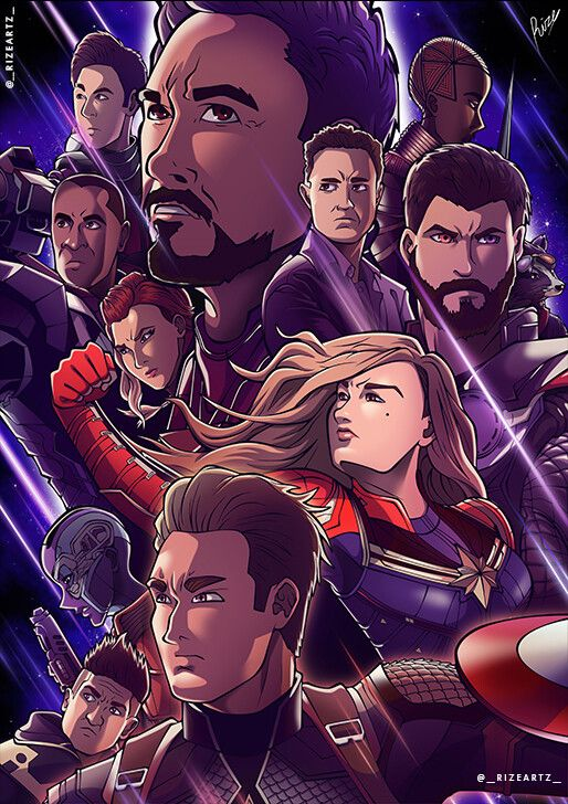 Artstation Fanart Avengers Endgame Anime Style Michael Consolacion Anime Anime Style Fan Art