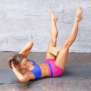 Wide-Legged Criss-Cross #exercise for abs, obliques and inner thighs