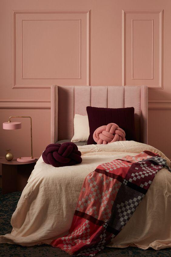 Kombinasi Warna Cat Kamar Pink Salem 12