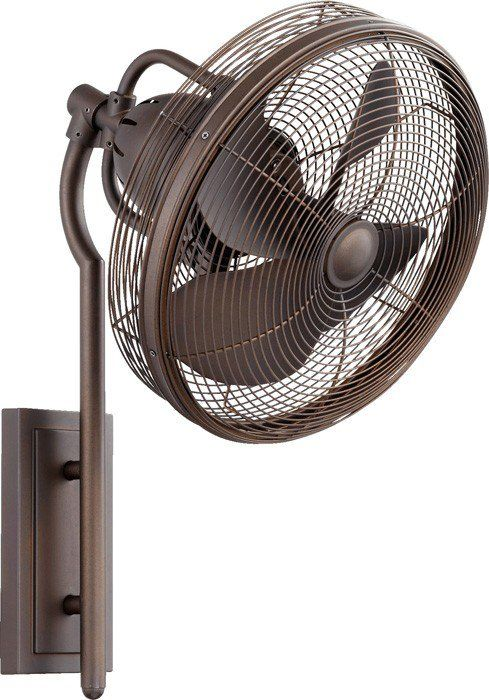 Quorum 92413 86 Veranda Oiled Bronze 13 Outdoor Wall Fan With
