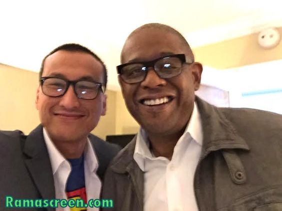 With the great Academy Award​ winner, Forest Whitaker​  Please LIKE my Facebook page at Facebook.com/ramascreen