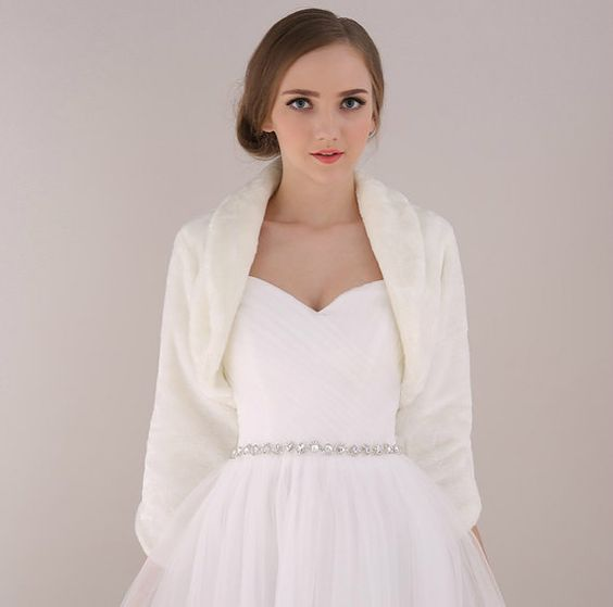 Hey, I found this really awesome Etsy listing at https://www.etsy.com/listing/207637623/bridal-wedding-faux-fur-sleeve