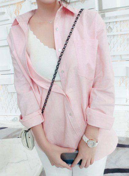 pastel pink blouse  $11.80  pastel kawaii hipster vintage fachin blouse top button up under20 under30 sammydress