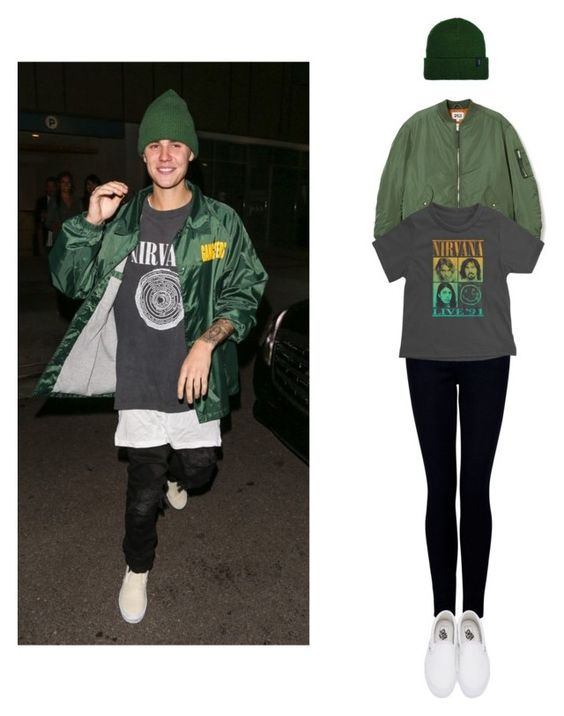 """""""BELIEBERS READ DESCRIPTION"""" by f-peralta ❤ liked on Polyvore featuring James Jeans, Justin Bieber, Vans and Brixton"""