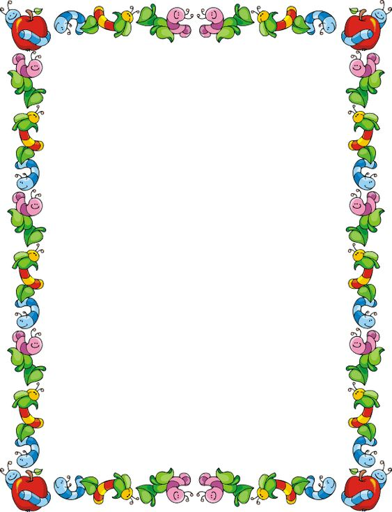 School Clip Art Line Border | frames backgrounds and ...