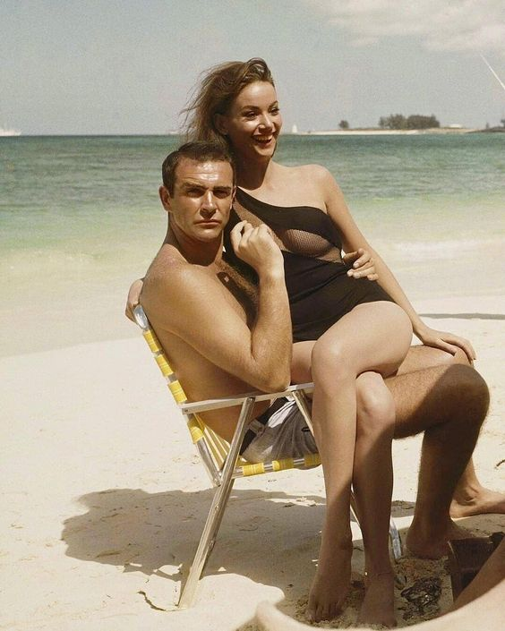 "History Only • Histortic Posts on Instagram: ""📷 Sean Connery and Claudine Auger on set of Thunderball, 1965"""