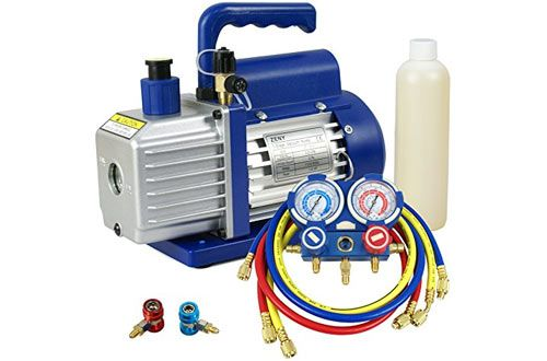 Zeny 3 5cfm Single Stage Rotary Vane Vacuum Pump For Hvac Auto Ac Refrigerant Recharging Vacuum Pump Best Vacuum Hvac