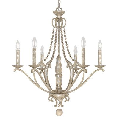 Capital Lighting Adele 6 Light Candle Chandelier