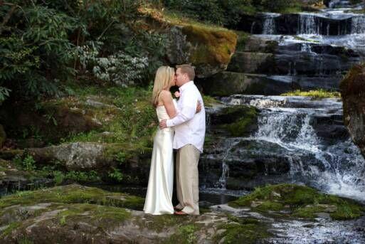 Natural Waterfall Near Gatlinburg TN Perfect Setting For Your Outdoor Destination Wedding