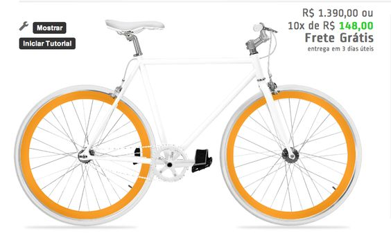 Bike branca e laranja http://www.colorbikes.com.br