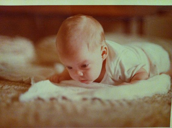 Christie as a baby