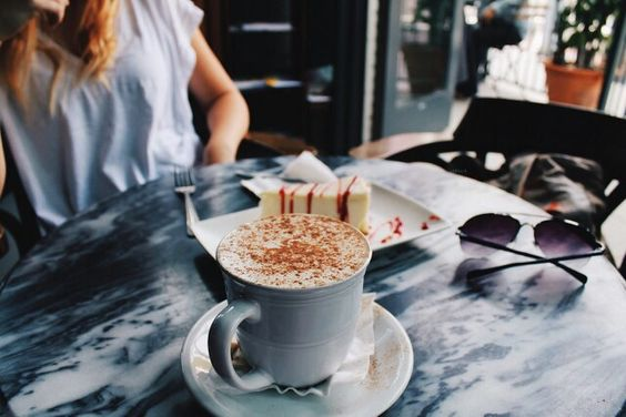 Coffee and marble table #tumblr